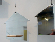 Mirror with perch