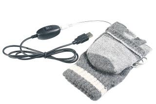 USB vyhřívané rukavice